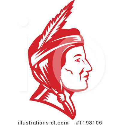 Native American Indian Clipart #1193106 by patrimonio