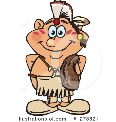 Royalty-Free (RF) Native American Clipart Illustration by Dennis Holmes Designs - Stock Sample #1278821