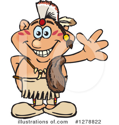 Native American Clipart #1278822 by Dennis Holmes Designs