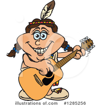 Native American Clipart #1285256 by Dennis Holmes Designs
