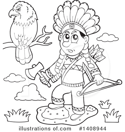 Native American Clipart #1408944 by visekart
