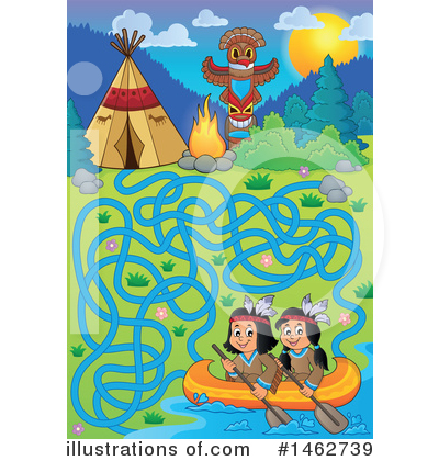 Royalty-Free (RF) Native American Clipart Illustration by visekart - Stock Sample #1462739