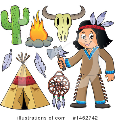 Native American Clipart #1462742 by visekart