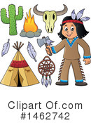 Royalty-Free (RF) Native American Clipart Illustration #1462742