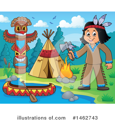 Native American Clipart #1462743 by visekart