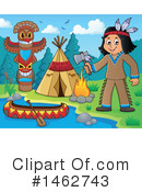Royalty-Free (RF) Native American Clipart Illustration #1462743