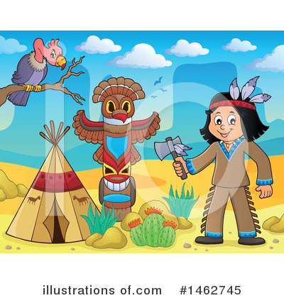 Native American Clipart #1462745 by visekart