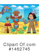 Royalty-Free (RF) Native American Clipart Illustration #1462745