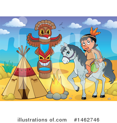 Native American Clipart #1462746 by visekart