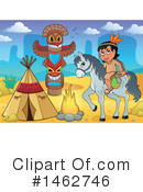 Royalty-Free (RF) Native American Clipart Illustration #1462746
