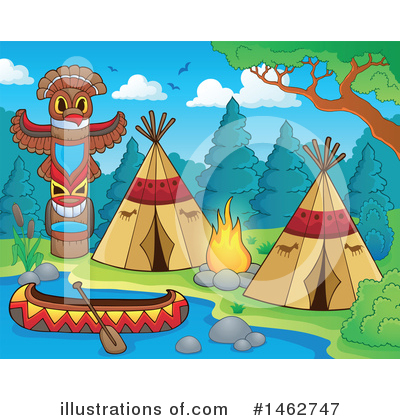 Native American Clipart #1462747 by visekart