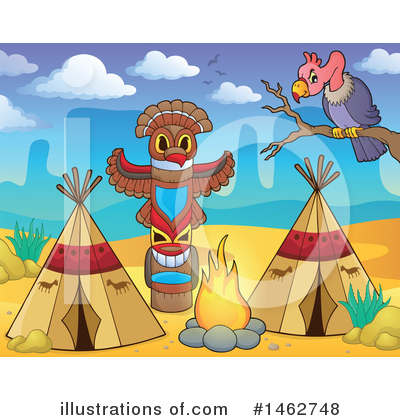 Native American Clipart #1462748 by visekart