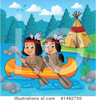 Royalty-Free (RF) Native American Clipart Illustration by visekart - Stock Sample #1462750