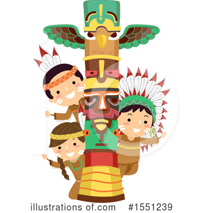 Royalty-Free (RF) Native American Clipart Illustration by BNP Design Studio - Stock Sample #1551239