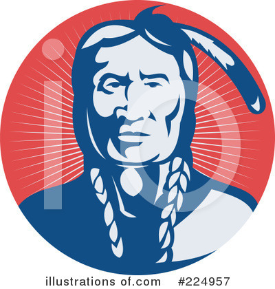 Native American Indian Clipart #224957 by patrimonio