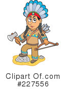 Royalty-Free (RF) Native American Clipart Illustration #227556