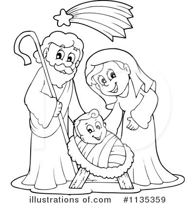 Royalty-Free (RF) Nativity Clipart Illustration by visekart - Stock Sample #1135359