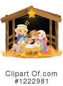 Royalty-Free (RF) Nativity Clipart Illustration #1222981