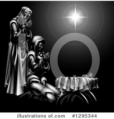 Nativity Scene Clipart #1295344 by AtStockIllustration