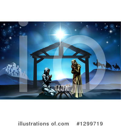 Nativity Clipart #1299719 by AtStockIllustration