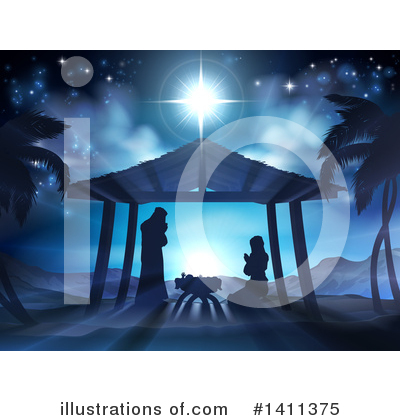 Nativity Clipart #1411375 by AtStockIllustration