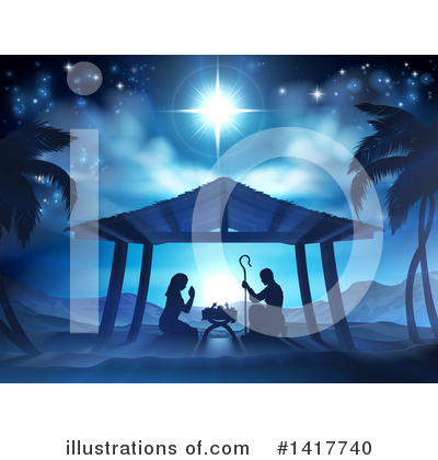 Nativity Clipart #1417740 by AtStockIllustration