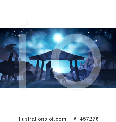 Nativity Scene Clipart #1457276 by AtStockIllustration
