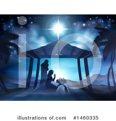 Nativity Scene Clipart #1460335 by AtStockIllustration