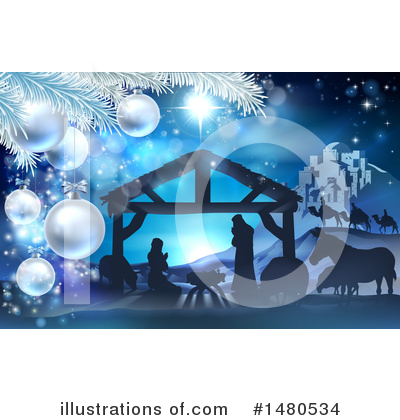 Nativity Scene Clipart #1480534 by AtStockIllustration