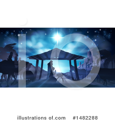 Nativity Scene Clipart #1482288 by AtStockIllustration