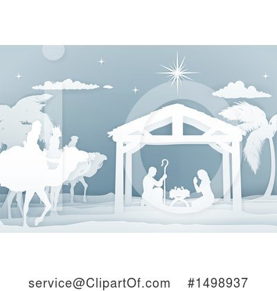 Nativity Scene Clipart #1498937 by AtStockIllustration
