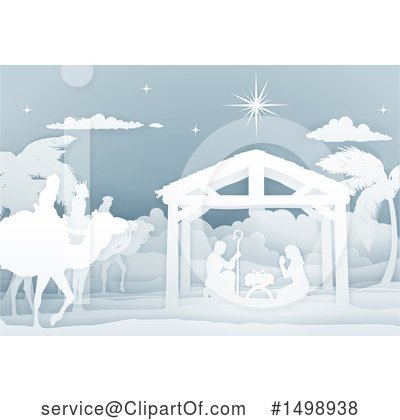 Nativity Scene Clipart #1498938 by AtStockIllustration