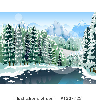 Landscape Clipart #1307723 by BNP Design Studio
