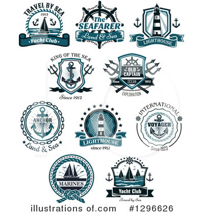 Sailboat Clipart #1296626 by Vector Tradition SM