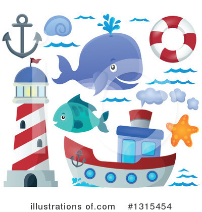 Whale Clipart #1315454 by visekart