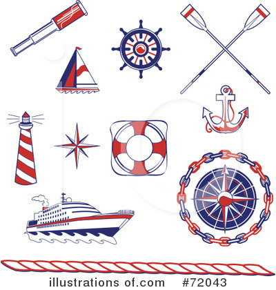 Royalty-Free (RF) Nautical Clipart Illustration by inkgraphics - Stock Sample #72043
