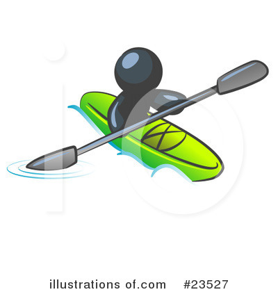 Kayaker Clipart #23527 by Leo Blanchette