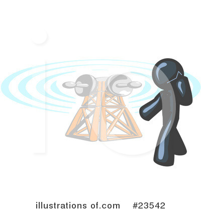 Communications Tower Clipart #23542 by Leo Blanchette