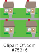 Royalty-Free (RF) Neighborhood Clipart Illustration #75316
