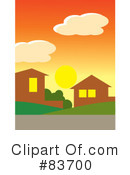 Royalty-Free (RF) Neighborhood Clipart Illustration #83700