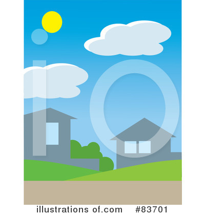Royalty-Free (RF) Neighborhood Clipart Illustration by Rosie Piter - Stock Sample #83701