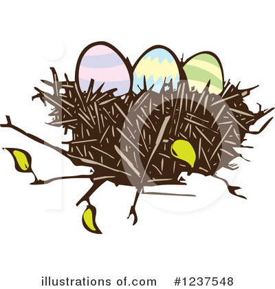 Royalty-Free (RF) Nest Clipart Illustration by xunantunich - Stock Sample #1237548