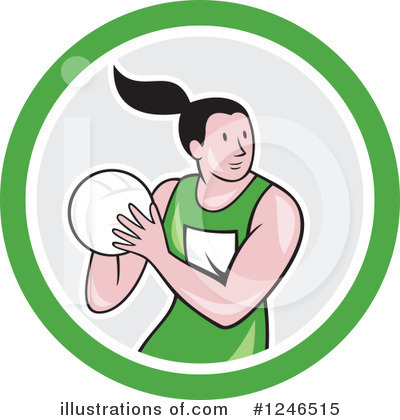 Royalty-Free (RF) Netball Clipart Illustration by patrimonio - Stock Sample #1246515