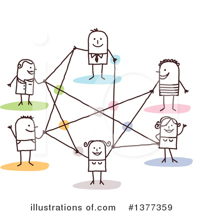 Royalty-Free (RF) Network Clipart Illustration by NL shop - Stock Sample #1377359