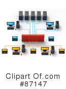 Royalty-Free (RF) Networking Clipart Illustration #87147