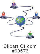 Royalty-Free (RF) Networking Clipart Illustration #99573