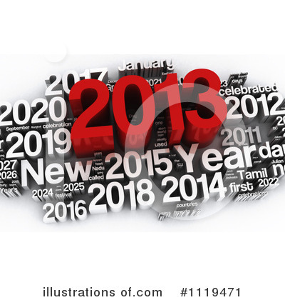 New Year Clipart #1119471 by MacX