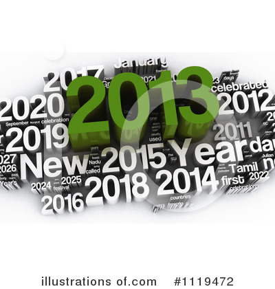 New Year Clipart #1119472 by MacX