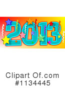 Royalty-Free (RF) New Year Clipart Illustration #1134445