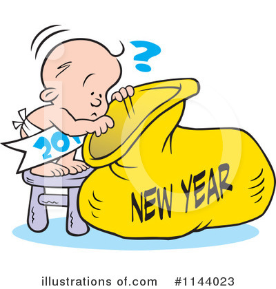 New Year Baby Clipart #1144023 by Johnny Sajem